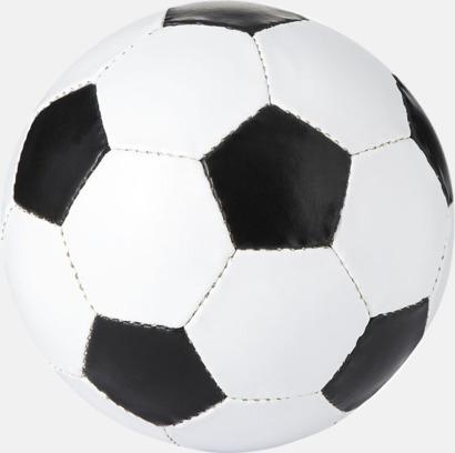 Vit / Svart Klassiska fotbollar i många färger med reklamtryck