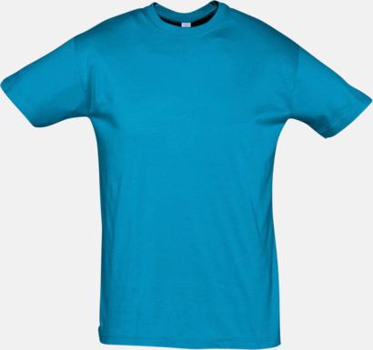 Aqua Billiga herr t-shirts i rmånga färger med reklamtryck