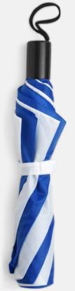 Blå/Vit Kompaktparaply i många färgalternativ
