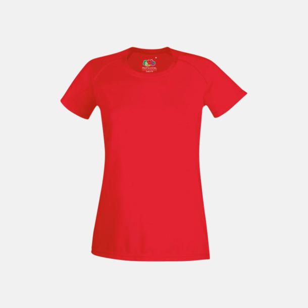 Röd (dam) Funktionströjor för herr, dam och barn - med reklamtryck
