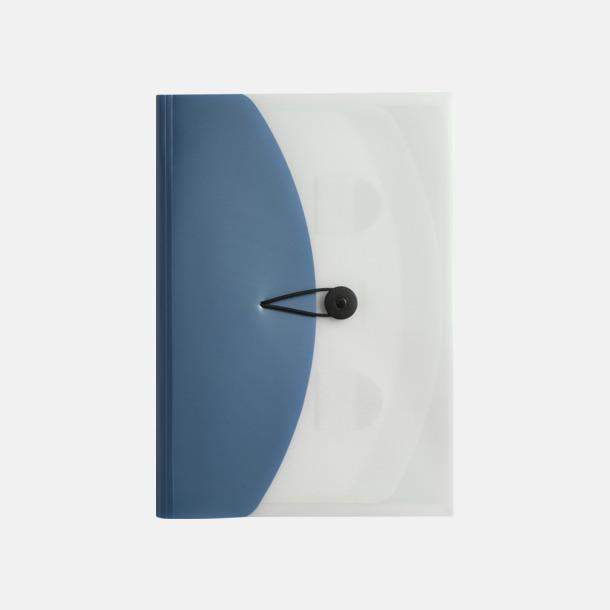Ljusblå / Vit Arkivmappar med eget tryck