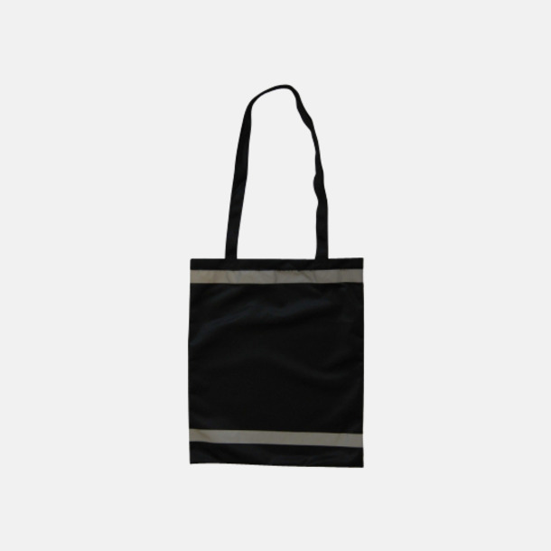 Svart Warnsac® shoppingbag med reklamtryck