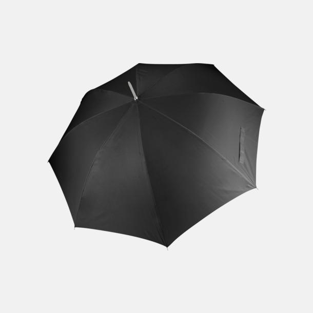 Svart Tvåfärgade golfparaplyer med reklamtryck