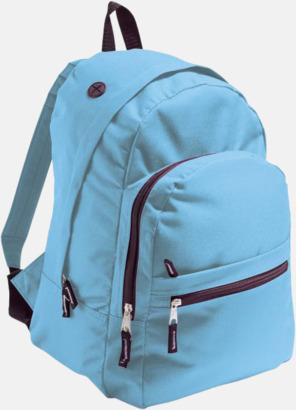 Sky Blue Musikvänliga ryggsäckar med tryck eller brodyr