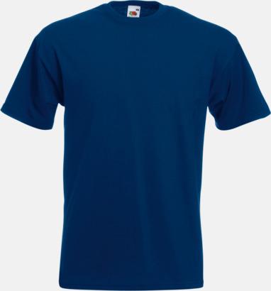 Marinblå Kraftig t-shirt med reklamtryck