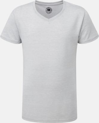 Silver Marl (v-neck flicka) Barn t-shirts i u- och v-hals med reklamtryck