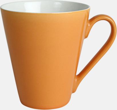 Orange Klassiskt kaffekopp i mångar fina färger