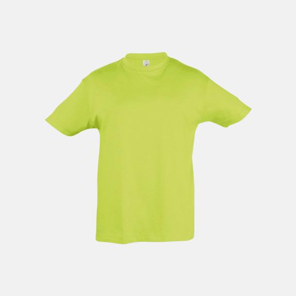 Apple Green Billig barn t-shirts i rmånga färger med reklamtryck