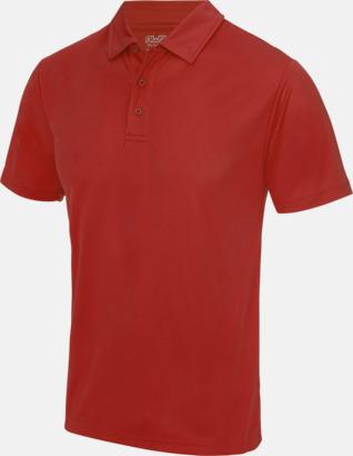 Fire Red Färgglada pikétröjor med reklamtryck