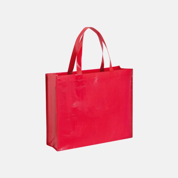 Röd Shoppingbagar med korta handtag - med tryck