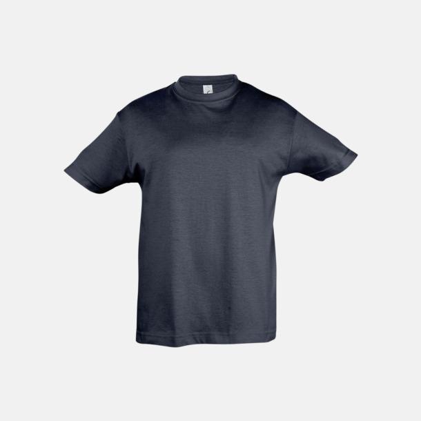 Marinblå Billig barn t-shirts i rmånga färger med reklamtryck