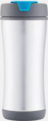Blå Lättåteranvändbara vattenflaskor med tryck
