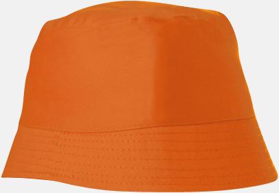 Orange Bomullshattar i enfärgade- och tvåfärgade varianter med reklamtryck