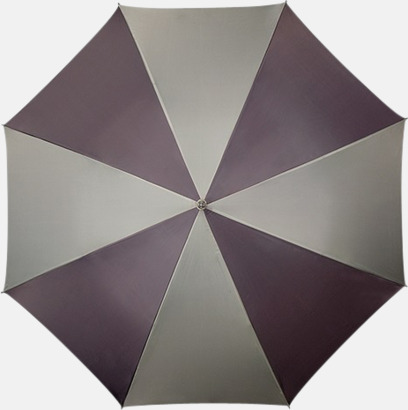 Grå / Ljusgrå Golfparaplyer med ergonomiska trähandtag