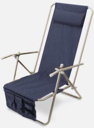 Marinblå (de luxe) Lyxig brassestol med kudde och väska med eget reklamtryck