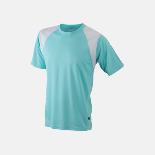 Flerfärgade tränings t-shirts i herrmodell med reklamtryck