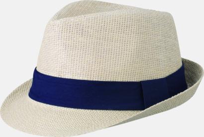 Natur/Marinblå Fina sommarhattar i många färger med reklambrodyr