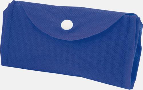 Blå Vikbar gympapåse/ryggsäck med reklamtryck