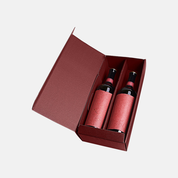 Vinröd (för 2 öppen) Papperskartonger i flera storlekar - med reklamtryck