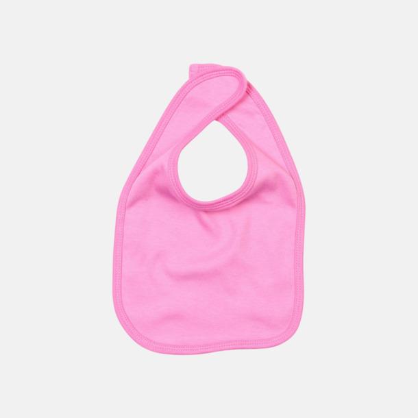 Gum pink Haklappar med kardborrestängning - med reklamtryck