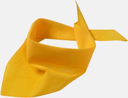 Gold Yellow Billiga scarfar med reklamtryck