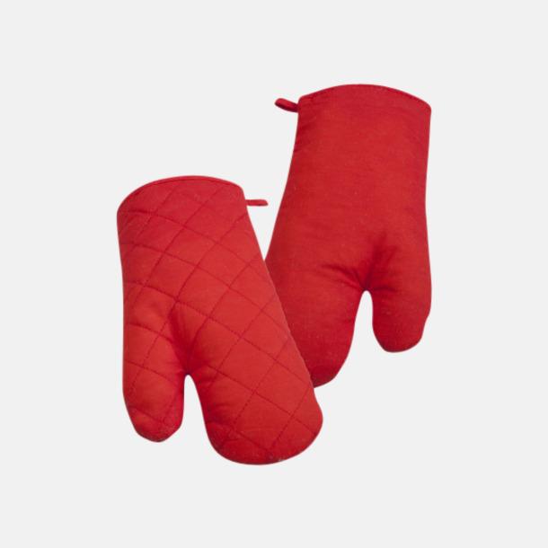 Röd Fina grytvantar med reklamlogga