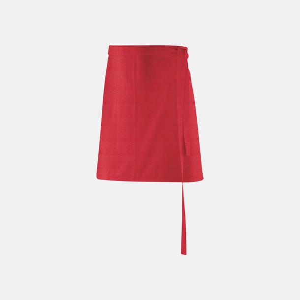 Röd (80 x 45 cm) Förkläden i 5 varianter med reklamtryck