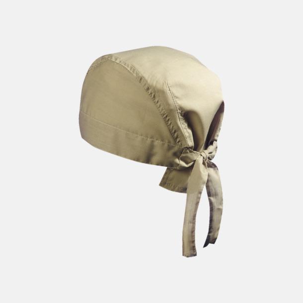 Khaki (hatt) Bandanas i två varianter med reklambrodyr