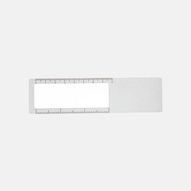 Vit Linjal, förstoringsglas och bokmärke i 1 - med reklamtryck