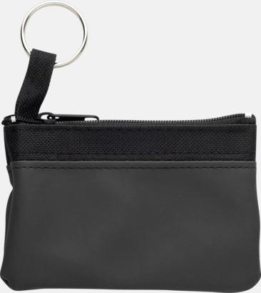 Svart Små plånböcker med nyckelringar i mörka färger