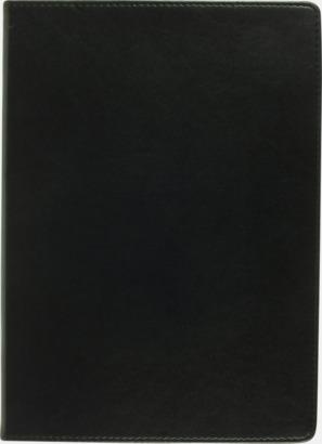 Svart Anteckningsblock A4-format av konstläder med reklamlogo