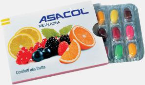 Läkemedelsförpackning med mintgodis eller fruktgodis