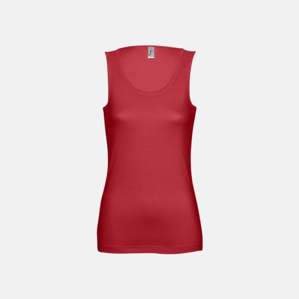 Röd (Dam) Billiga linnen med tryck av egen logo