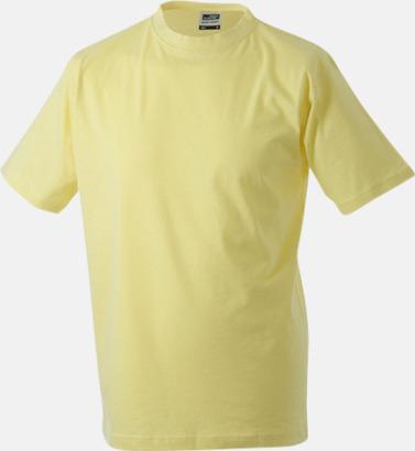 Ljusgul Barn t-shirtar av kvalitetsbomull med eget tryck