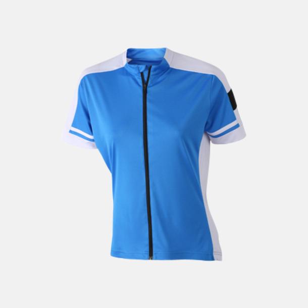 Cobalt (dam) Herr- och damcykeltröjor med hel dragkedja - med reklamtryck