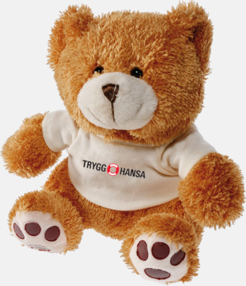 Brun Teddybjörn Nalle med tryck av egen logo