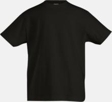 Billiga svarta och vita t-shirts av ekologisk bomull med reklamtryck