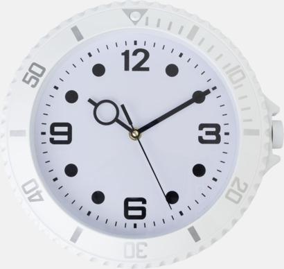 Vit Väggklockor i armbandsursdesign med reklamtryck