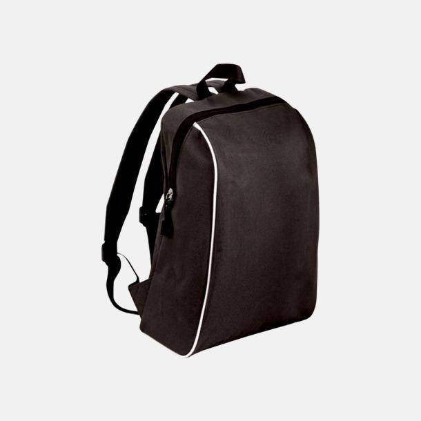 Svart Sportiga ryggsäckar i retro