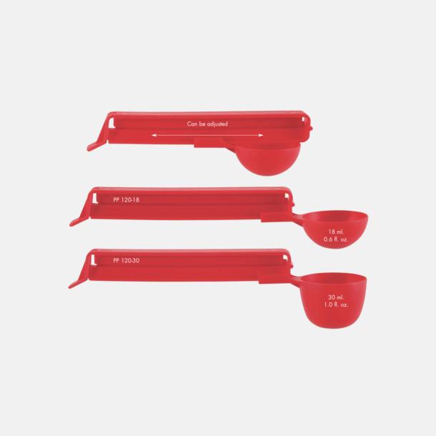 Röd Kaffeskopor med tryck