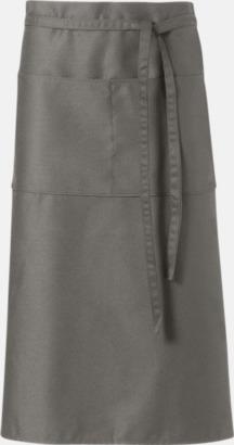 Ljusgrå Billiga, långa midjeförkläden med tryck