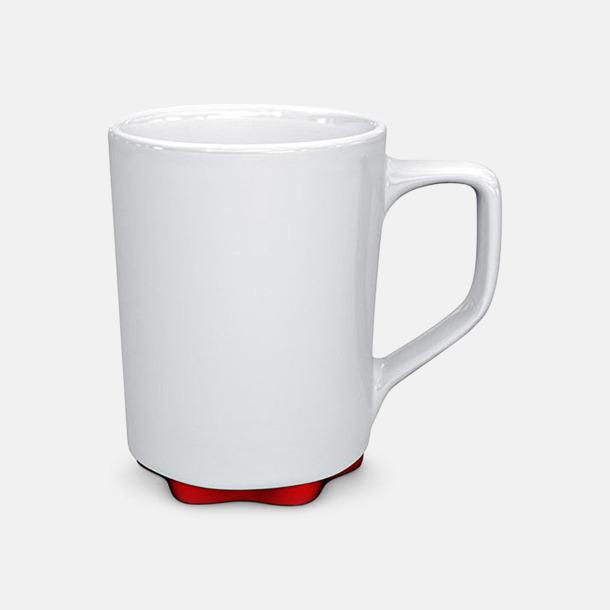 Vit/Röd Stengodskoppar i modern design