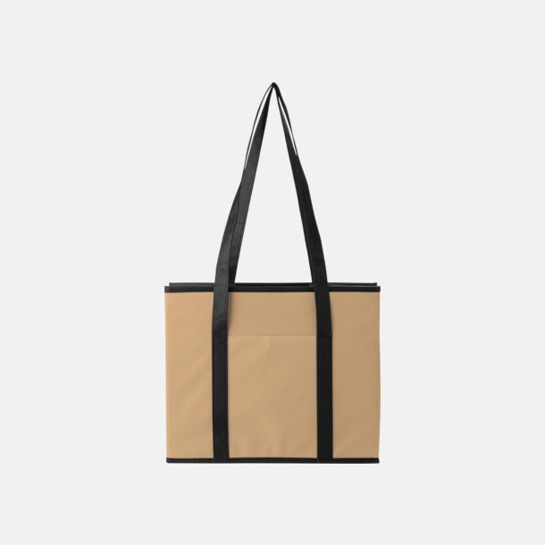 Khaki Vikbara bilväskor med reklamtryck