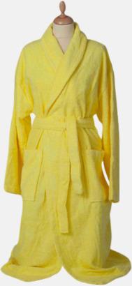 Bright Yellow Färgglada badrockar med brodyr