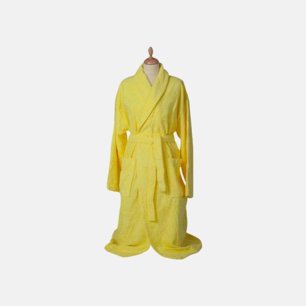 Bright Yellow (medel) Färgglada badrockar med reklambrodyr