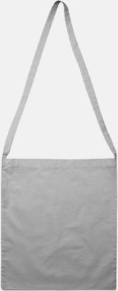 Cool Grey Färgglada bomullskassar med reklamtryck i slingmodell
