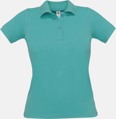 Real Turquoise Pikétröjor med tryck för dam