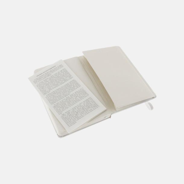 Innerficka (pocket) Moleskine-böcker med blanka sidor och hårt omslag - med reklamtryck