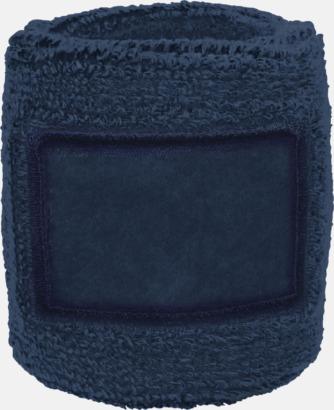 Marinblå Armsvettband med label att trycka på