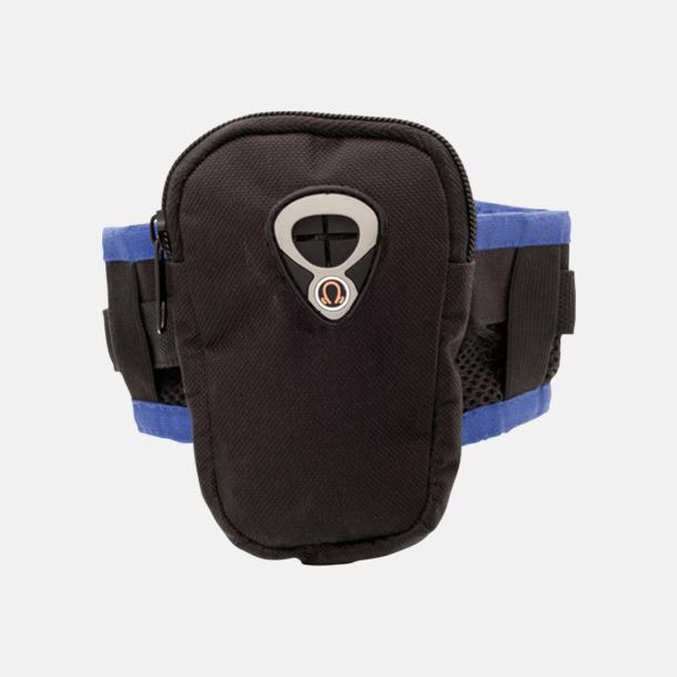 Svart / Blå Joggingarmband för mobil eller musikspelare med reklamtryck